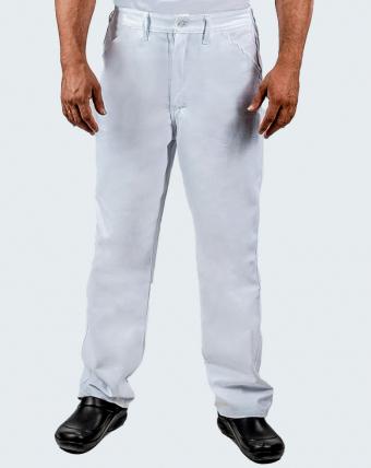 Calça Masculina Brim e Sarj 3x1 Uniforme   Branco