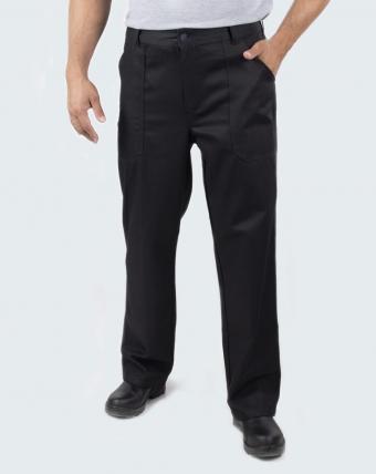 Calça Masculina Brim e Sarj 3x1 Uniforme   Preto