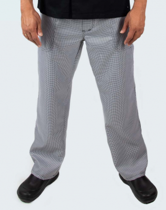 Calça Masculina com Zíper Uniforme   Pied Poule
