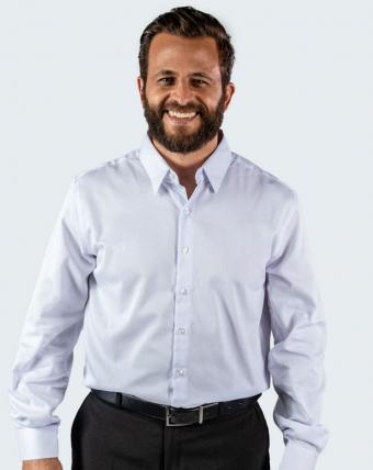 Camisa Masculina Maquinetada Uniforme | Branco