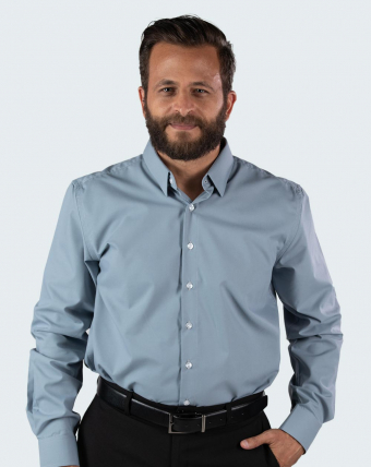 Camisa Masculina Uniforme | Cinza