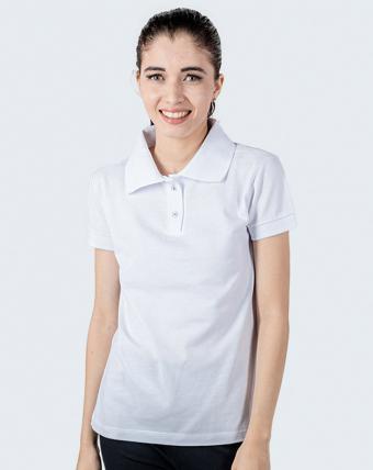 Camisa Pólo Feminina Uniforme   Branco