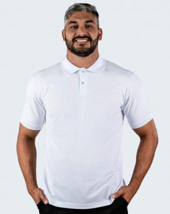 Camisa Pólo Masculina Uniforme   Branco