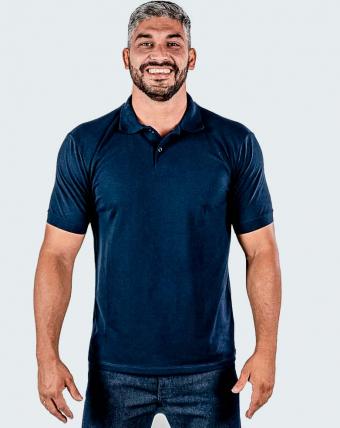 Camisa Pólo Masculina Uniforme   Marinho